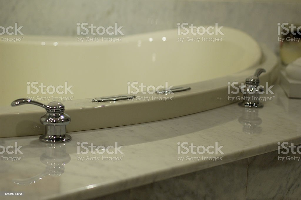 Bath Tub in Marble royalty-free stock photo