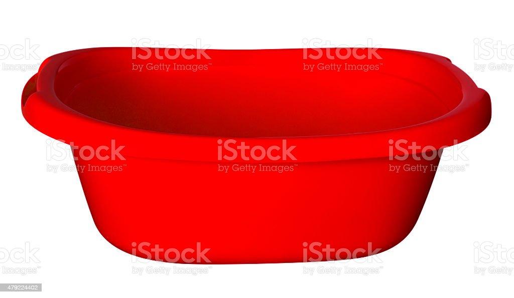 Bath tub - red stock photo