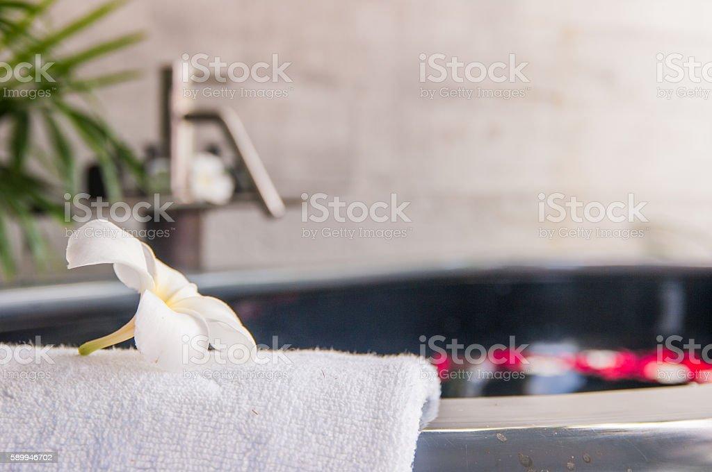 Bath tube in a spa stock photo
