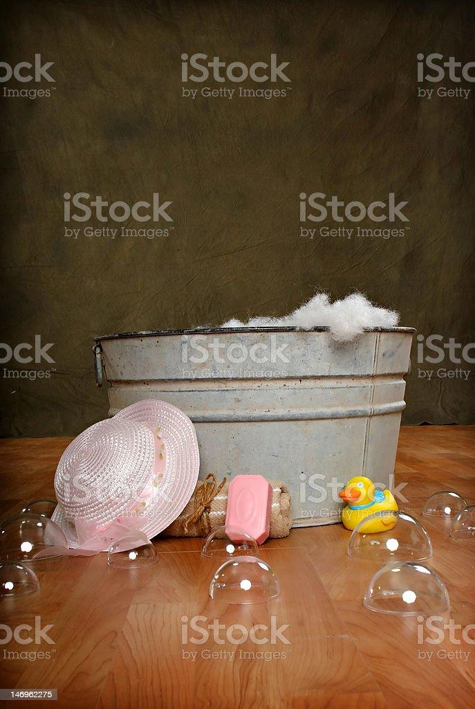 Bath Washtub Rustic royalty-free stock photo