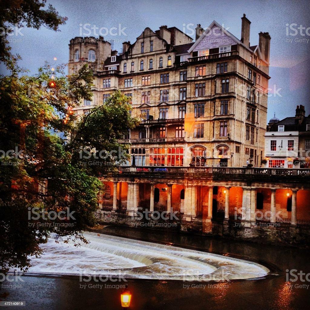 Bath Weir royalty-free stock photo