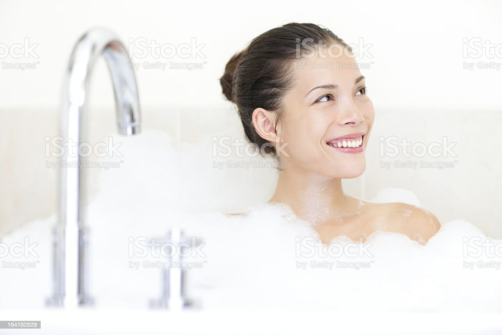 Bath woman stock photo
