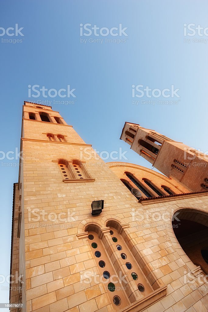Bathed in light - Church royalty-free stock photo
