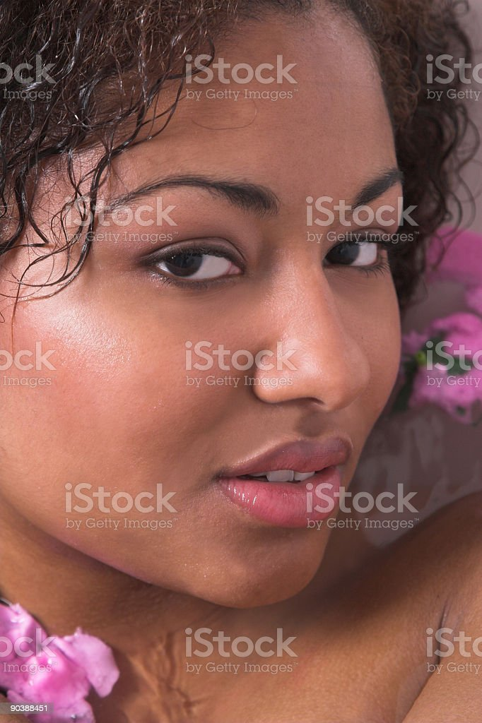 Bathing beauty royalty-free stock photo