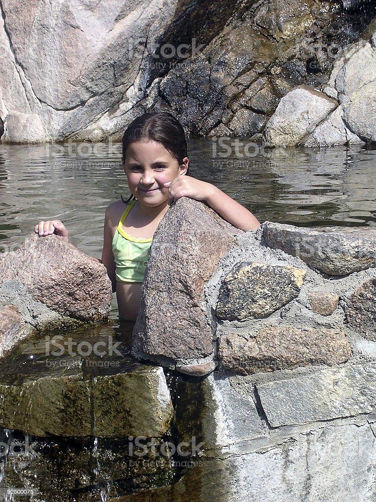 Bathing royalty-free stock photo