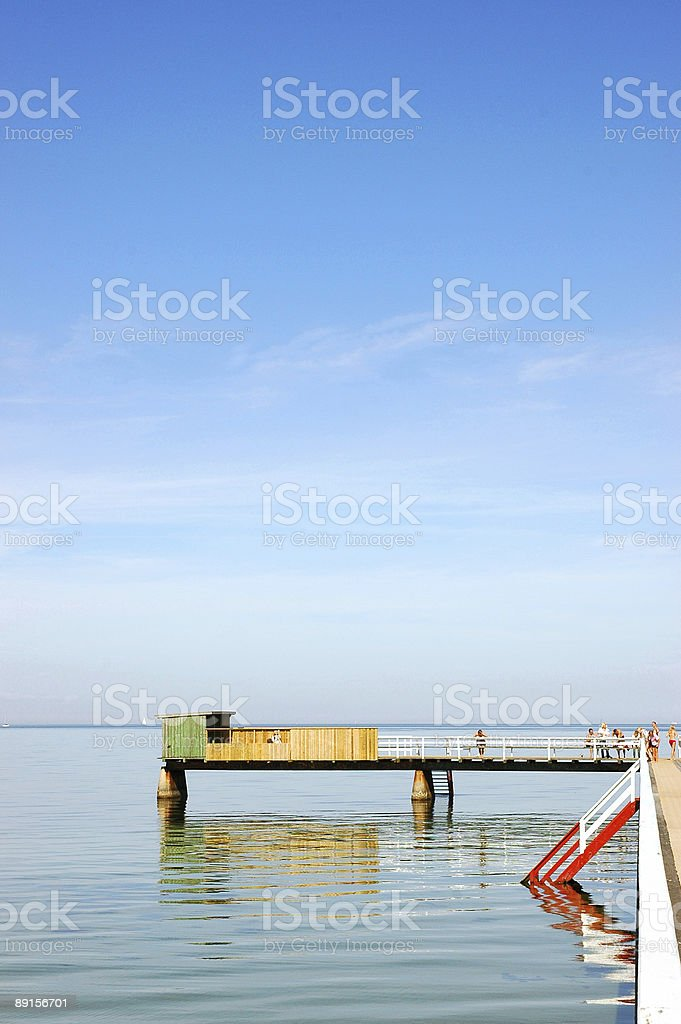 Bathing Pier royalty-free stock photo