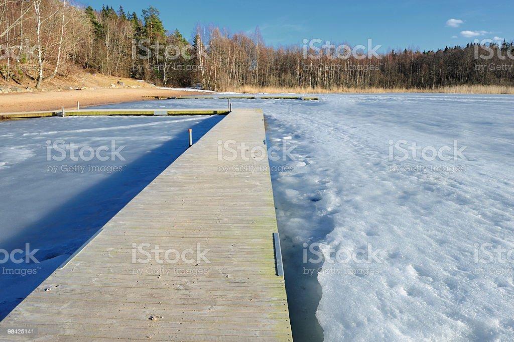Collocare in bagno di ghiaccio di primavera foto stock royalty-free
