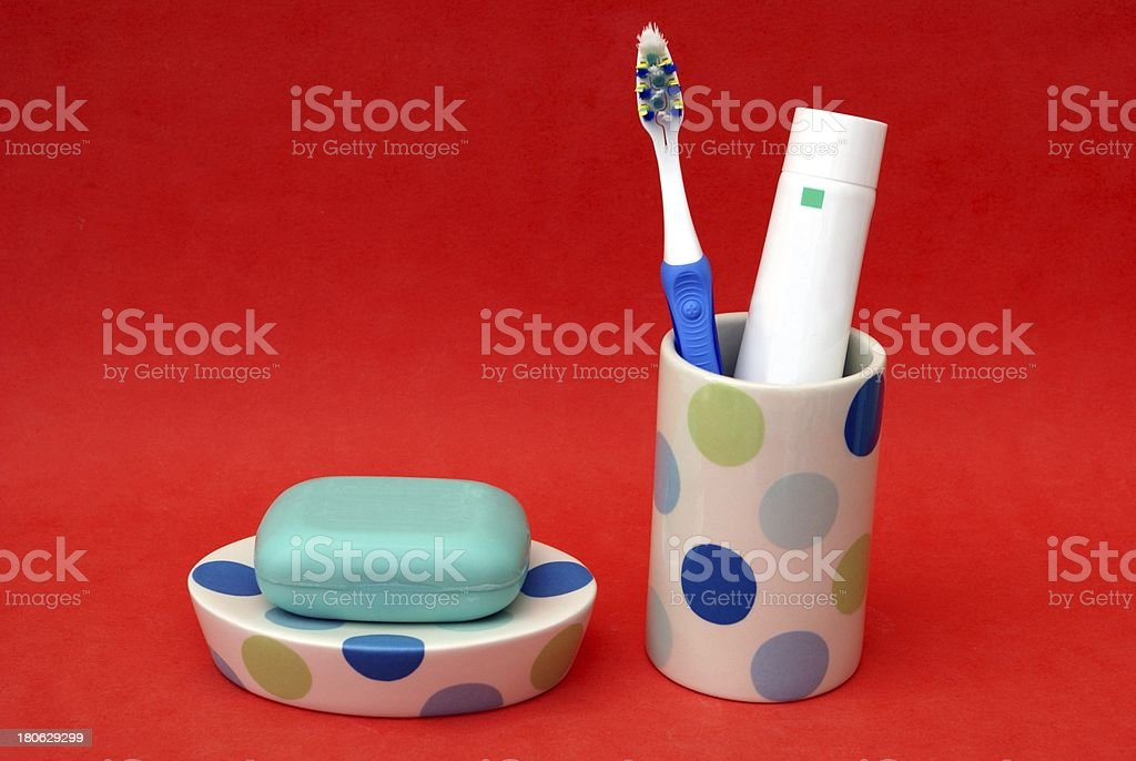 bathroom accessories royalty-free stock photo