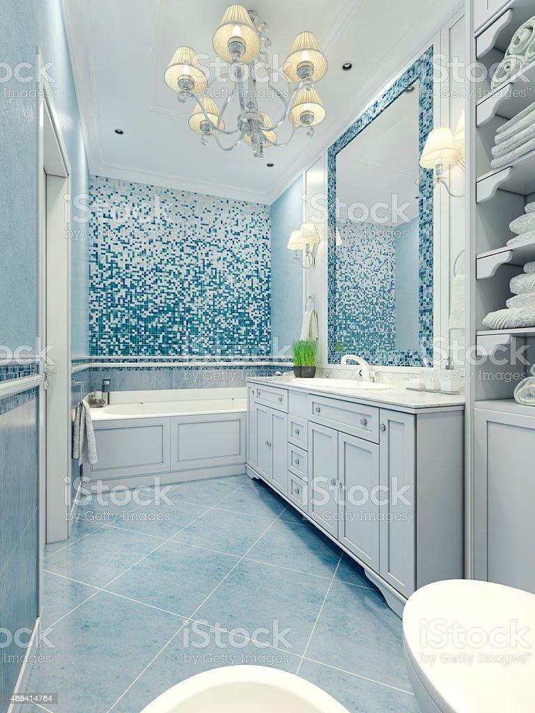 Bathroom art deco style stock photo