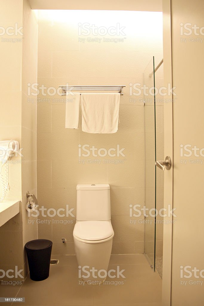 Bathroom at night. royalty-free stock photo