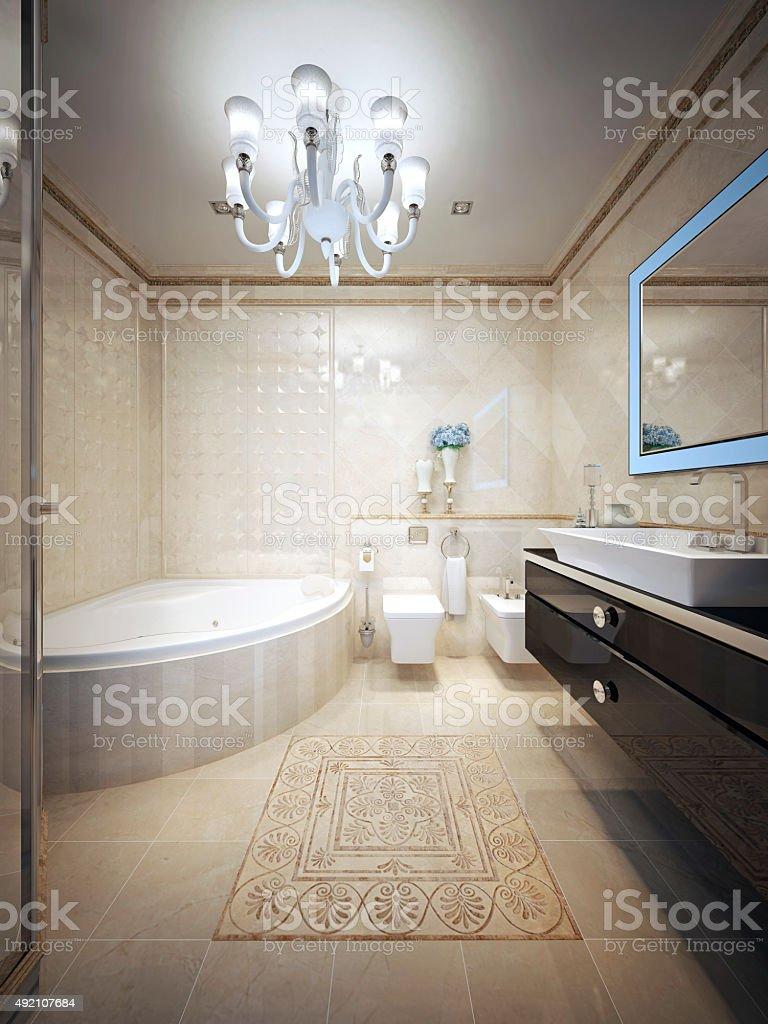Bathroom avant-garde style stock photo
