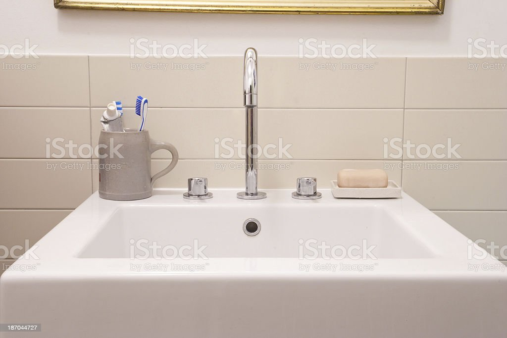 bathroom basin stock photo