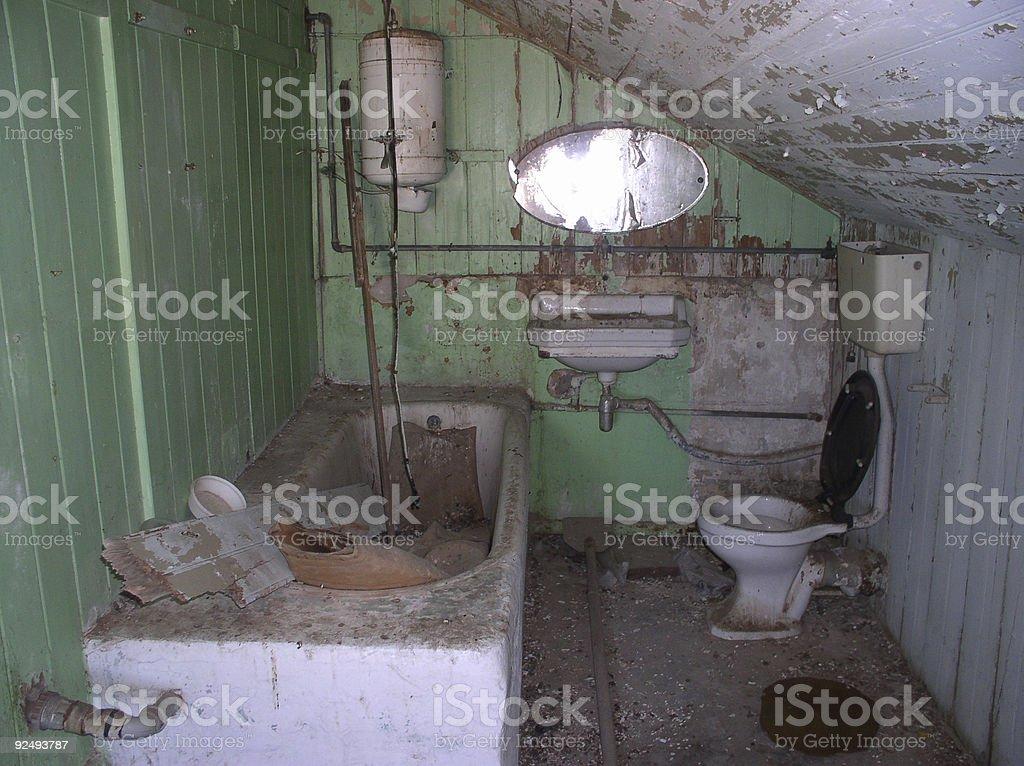 Bathroom- before renovation royalty-free stock photo