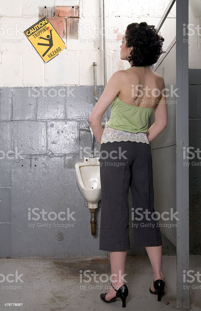 Bathroom Break stock photo