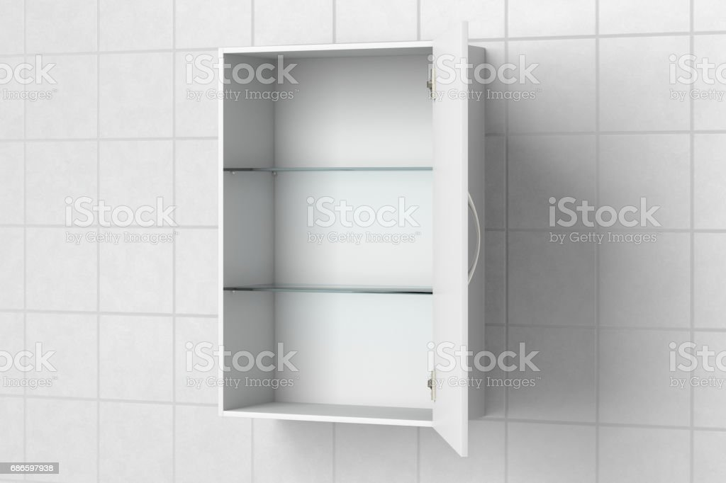 Armoire de toilette isolé photo libre de droits