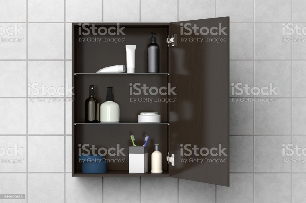 Bathroom cabinet isolated royalty-free stock photo