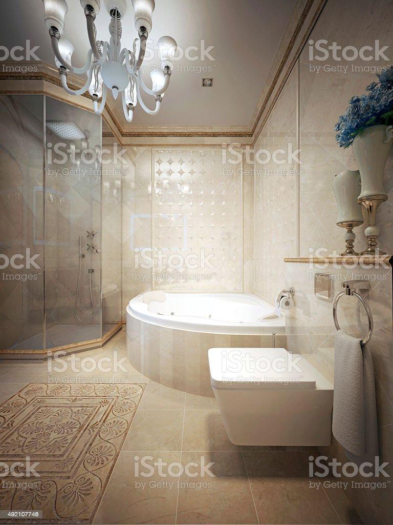 Bathroom classic style stock photo