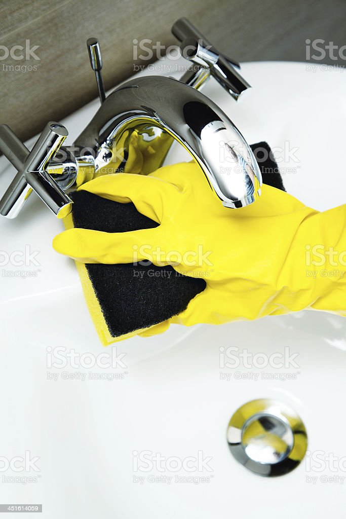 bathroom cleaning royalty-free stock photo