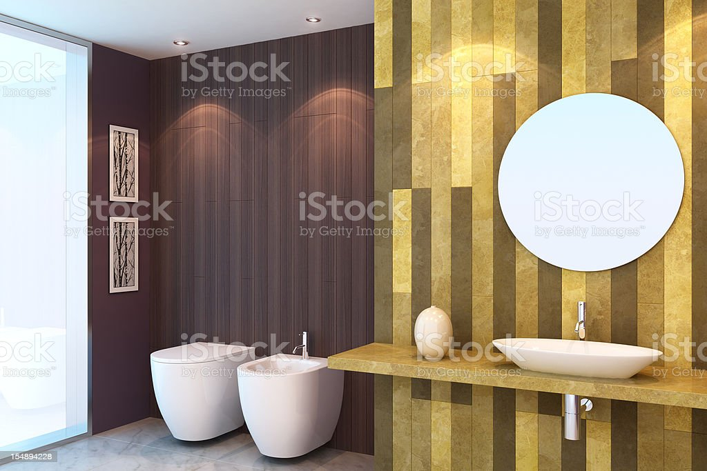 Bathroom Contemporary royalty-free stock photo