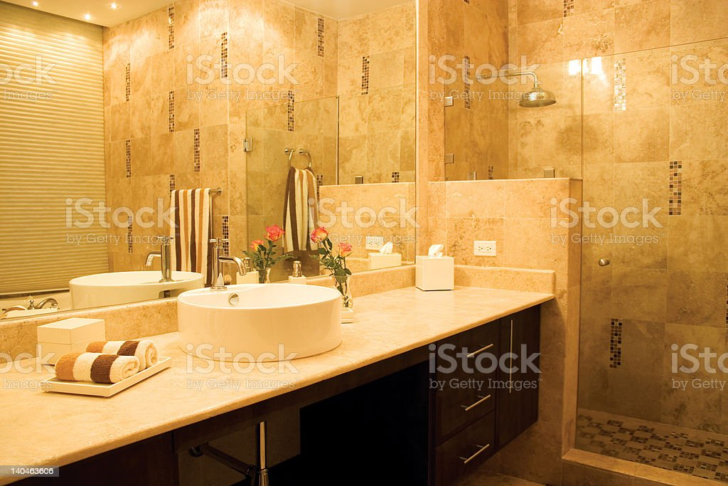 bathroom counter royalty-free stock photo