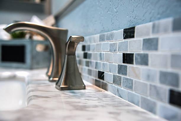 Bathroom Counter Tile Detail stock photo