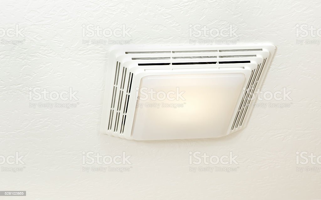 bathroom exhaust fan light stock photo