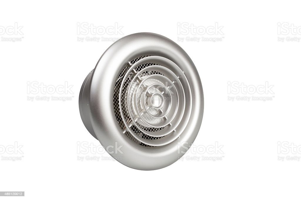 Bathroom exhaust ventilation fan on white background, isolated stock photo