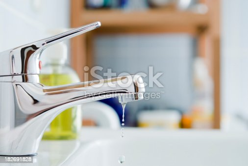 A dripping faucet