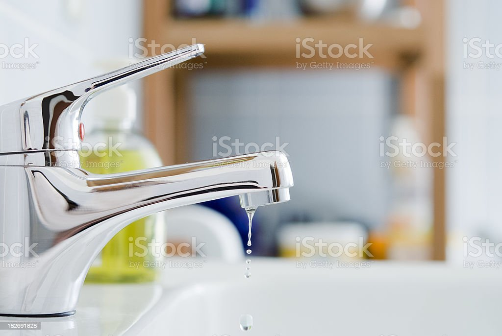 Bathroom Faucet stock photo
