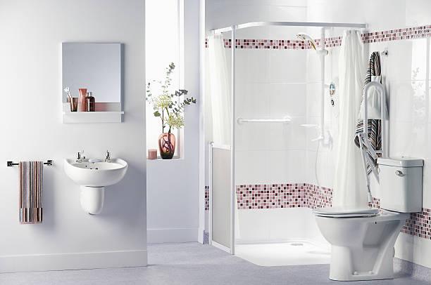 Bathroom for disabled - foto de acervo