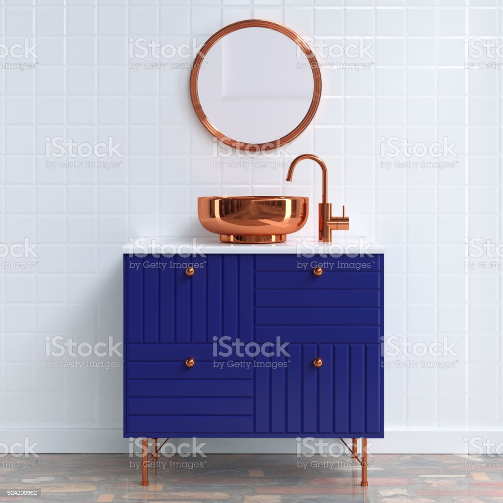 bathroom furniture stock photo