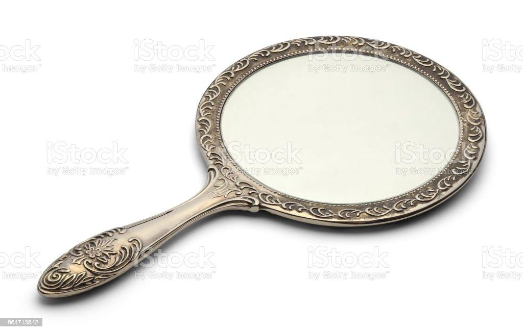 Bathroom Hand Mirror stock photo