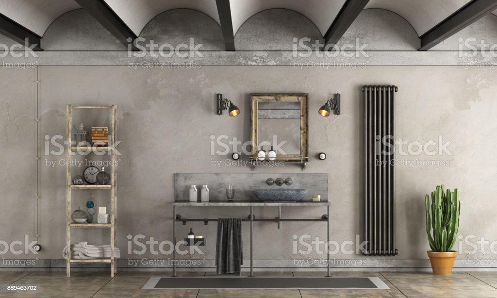 Bathroom in industrial style - foto stock