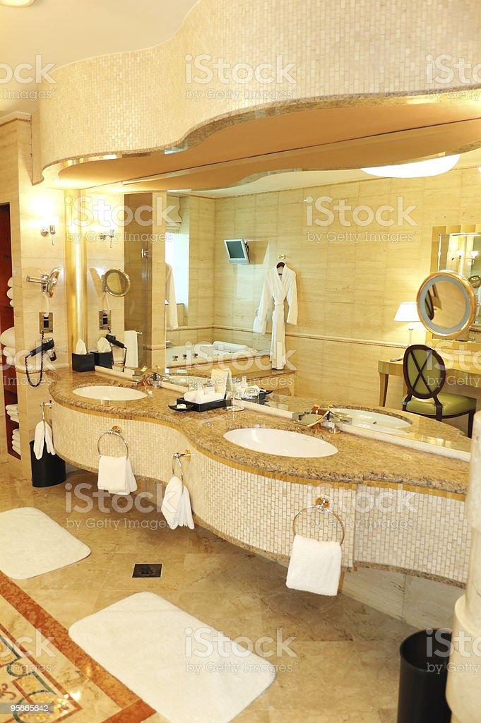 Bathroom in luxury hotel, Dubai, UAE royalty-free stock photo