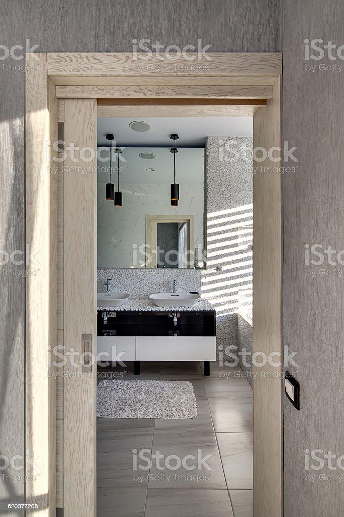 Łazienka w nowoczesnym stylu zbiór zdjęć royalty-free