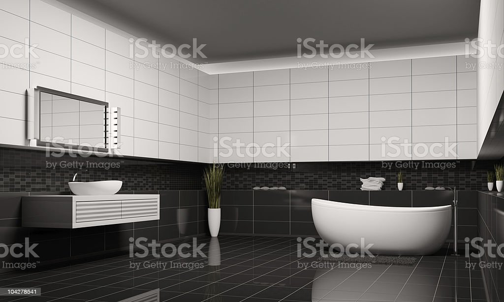 Bathroom interior 3d royalty-free stock photo