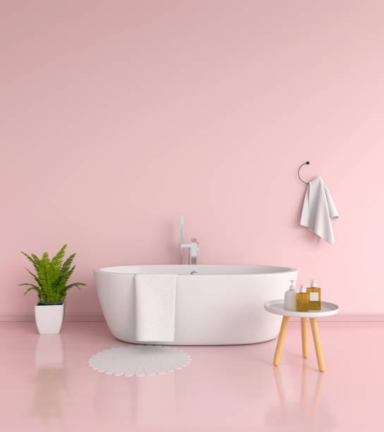 bathroom interior, 3D rendering - foto stock