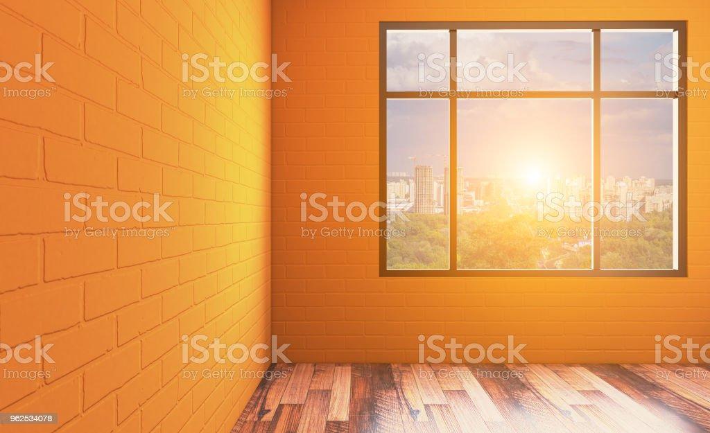 Banheira interior do banheiro. Renderização em 3D... Pôr do sol - Foto de stock de Artigo de decoração royalty-free
