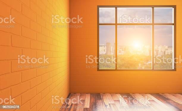 Foto de Banheira Interior Do Banheiro Renderização Em 3d Pôr Do Sol e mais fotos de stock de Artigo de decoração