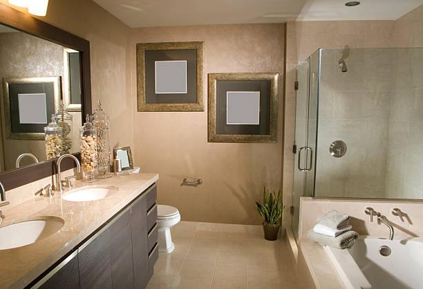 badezimmer innen home design - badezimmer fotos stock-fotos und bilder