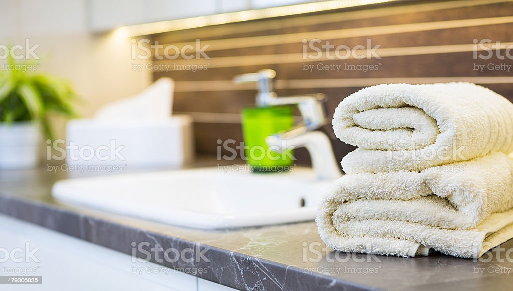Bathroom interior. stock photo