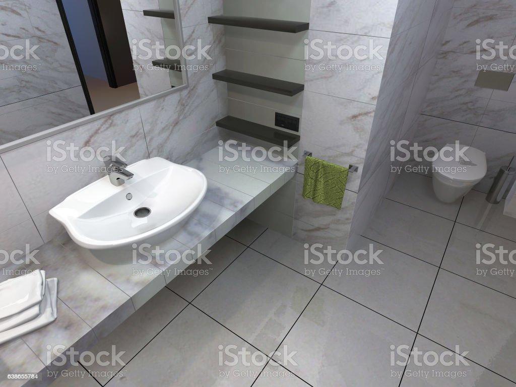 Bathroom interior stock photo