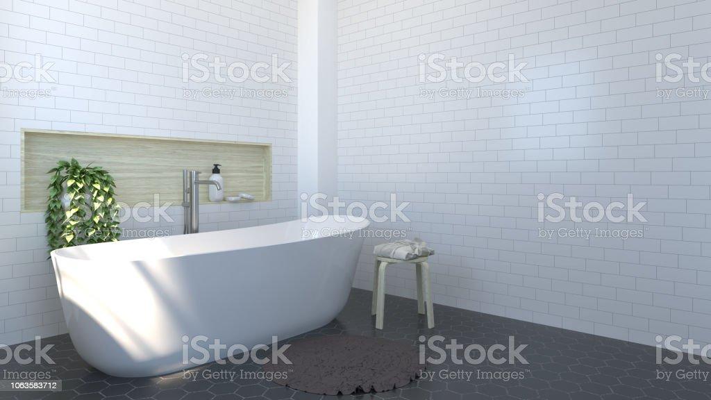 Badezimmer Interieur Toilette Dusche Moderne Haus ...