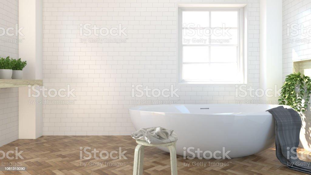 Interior De Cuarto De Baño Aseo Ducha Diseño Moderno Piso De ...