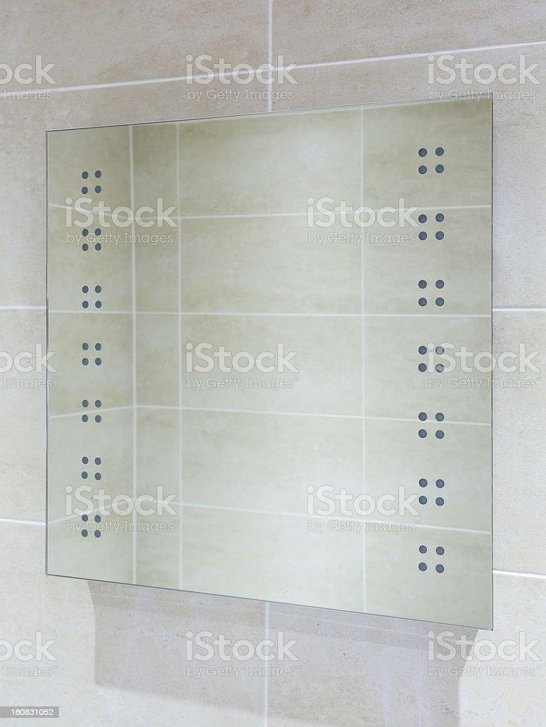 bathroom mirror lights off royalty-free stock photo