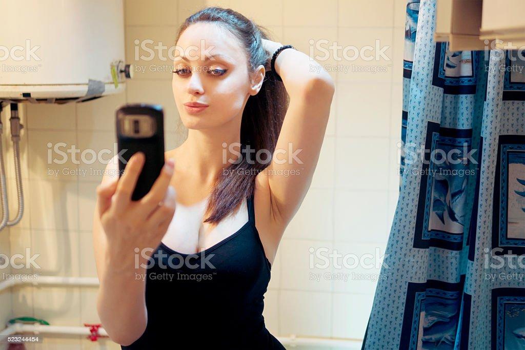 Bathroom Mirror Selfie Stock Photo Download Image Now Istock