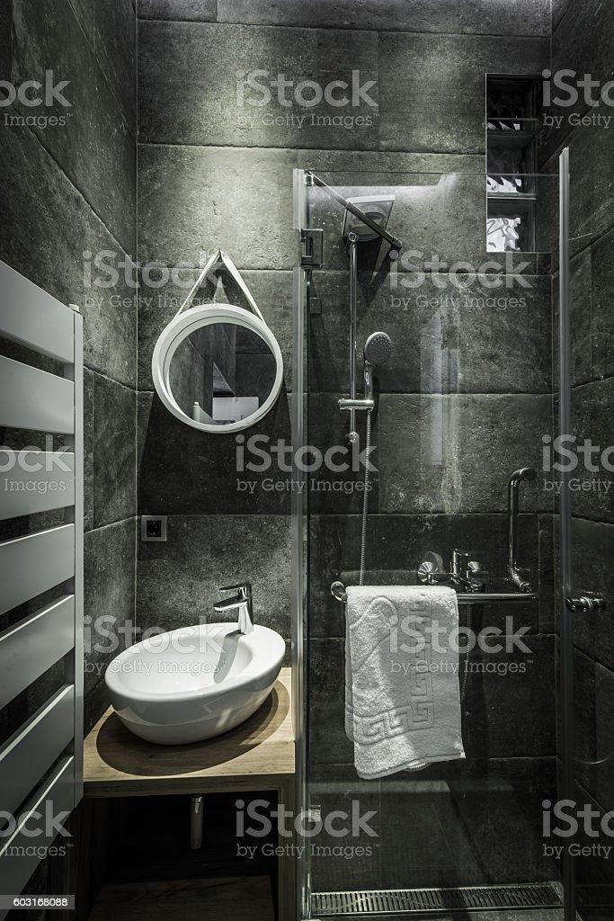 Badezimmer Modernes Design Stock-Fotografie und mehr Bilder von ...