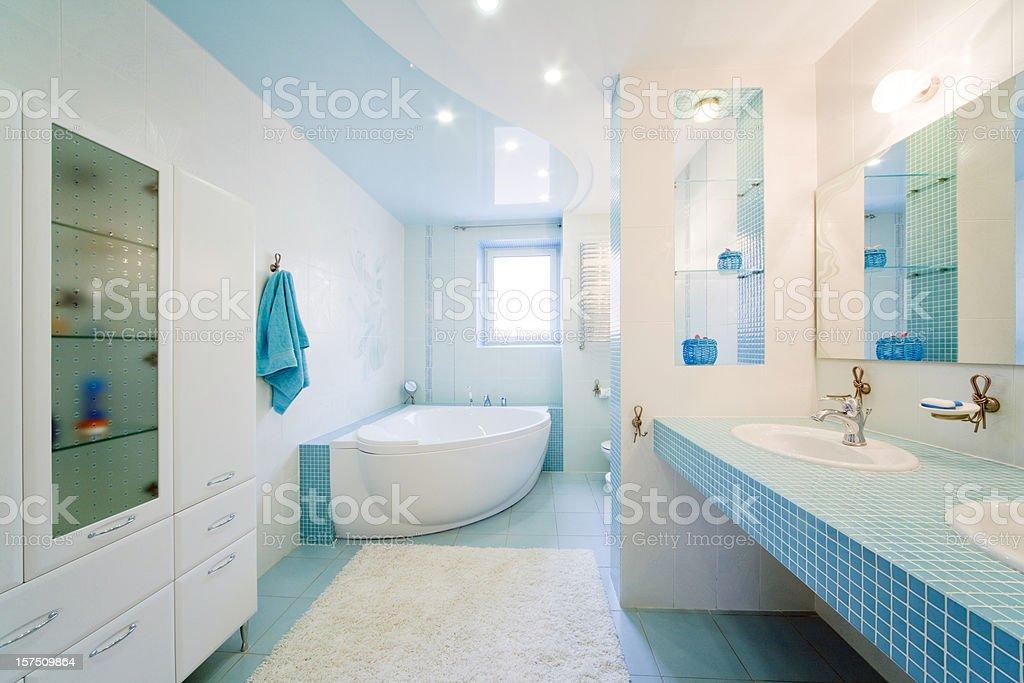 Bathroom. Modern luxury interior stock photo