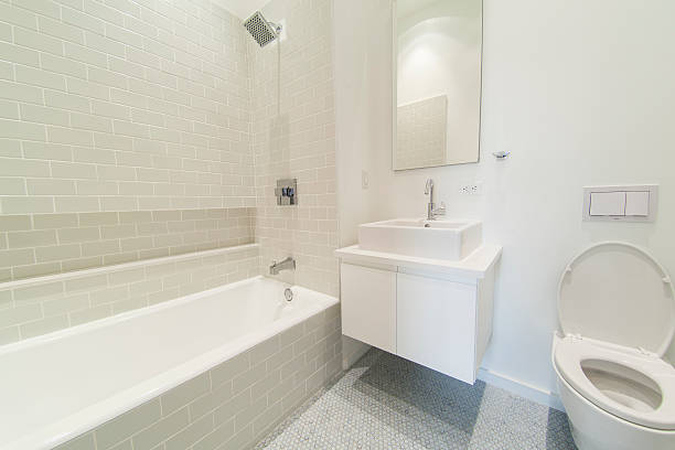 Bathroom. Modern luxury interior Contemporary interior of living apartment - bathroom surrounding stock pictures, royalty-free photos & images