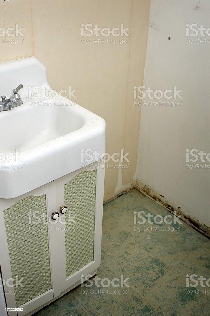 Bathroom Needs Repairs royalty-free stock photo